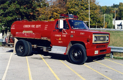 COBDEN TANKER 1340  CHEVY C60 - FD BUILT    FRANK WEGLOSKI PHOTO