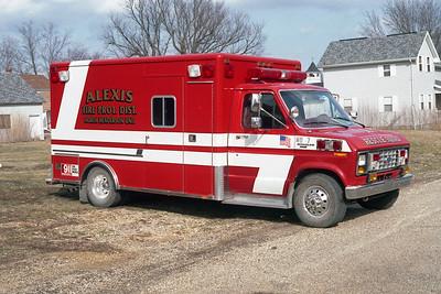 ALEXIS FPD - NORTH HENDERSON UNIT  RESCUE 7  1986  FORD E350 - HORTON   8-13864549