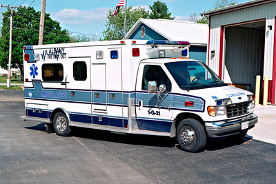 ALBANY FPD  AMBULANCE 1-G-21  1995  FORD E450 - MEDTEC