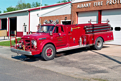 ALBANY FPD  TANKER 3  1968  CHEVY C60 - ALEXIS  500-1000   #873