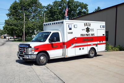 ERIE  AMBULANCE 1-G-15  2010 FORD E450 - MEDTEC  #8688