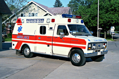 PROPHETSTOWN  AMBULANCE  WHITE - ORANGE STRIPE