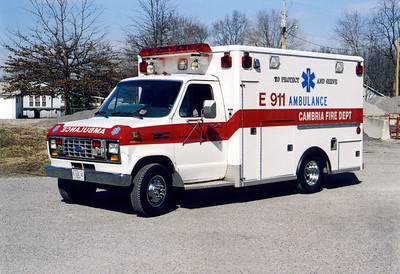 CAMBRIA  AMBULANCE  FORD E-350 -   FRANK WEGLOSKI PHOTO