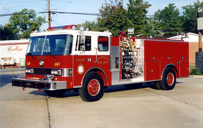 CARTERVILLE  ENGINE 901  1987 PIERCE DASH  1250-1000   FRANK WEGLOSKI PHOTO