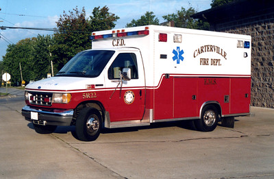 CARTERVILLE  AMBULANCE 5-R-22   1993 FORD E350 - McCOY MILLER   FRANK WEGLOSKI PHOTO