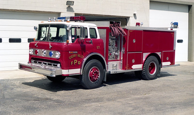 CHERRY VALLEY FPD  TAMKER 571  1980  FORD C - E-ONE   250-1250   REPAINTED WHITE OVER RED