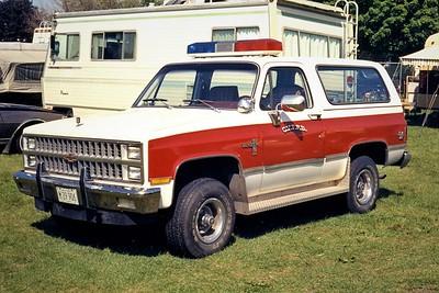 CHERRY VALLEY FPD  CAR   1975  CHEVY BLAZER   JEFF SCHIELKE PHOTO
