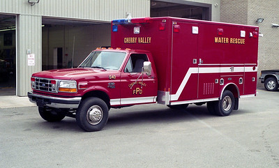 CHERRY VALLEY FPD  RESCUE 540  1995  FORD F450 - E-ONE   WATER RESCUE