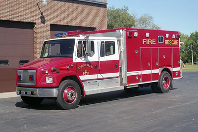 CHERRY VALLEY FPD  SQUAD 543  1995 FREIGHTLINER FL-80 - 1984  E-ONE