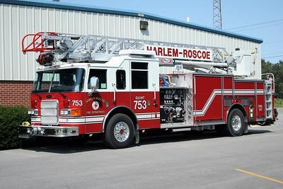 HARLEM-ROSCOE FPD  QUINT 753  2006  PIERCE ENFORCER   1500-500-75'   #18377
