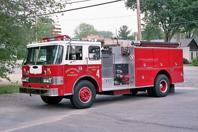 HARLEM ROSCOE FPD  ENGINE 704   1985 PIERCE DASH   1250-1000