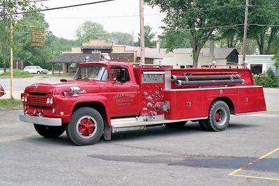 HARLEM ROSCOE FPD  ENGINE 705  1960 FORD F - PIERCE   750-1000
