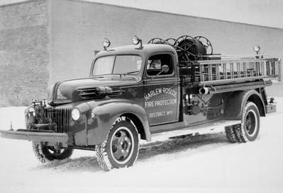 HARLEM-ROSCOE FPD  ENGINE 1  FORD - DARLEY