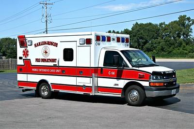 HARLEM ROSCOE FPD  AMBULANCE C-14  2010  CHEVY C4500 - MEDTEC   #8608