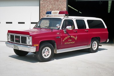 HARLEM ROSCOE FPD  CAR 744  1988  GMC SUBURBAN 2500