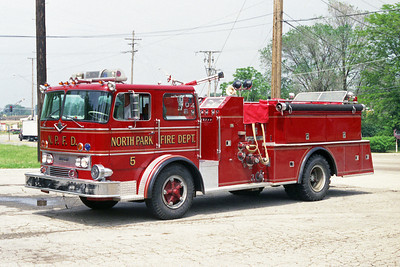 NORTH PARK FPD  ENGINE 5  1970 IHC-HOWE  1000-600