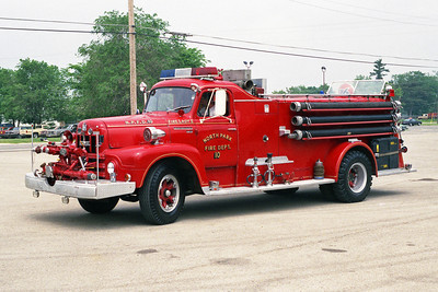 NORTH PARK FPD  ENGINE 10  1957 IHC R190-HOWE  750-1000