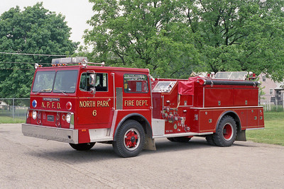 NORTH PARK FPD ENGINE 6  1974 HENDRICKSON 1871 - HOWE  1000-600