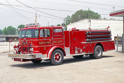 NORTH PARK FPD  ENGINE 2  1967 IHC-HOWE  750-1000