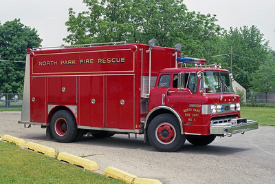 NORTH PARK FPD  RESCUE 3  1980 FORD C-8000 - E-ONE