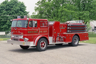 NORTH PARK FPD  ENGINE 1  1967 IHC-HOWE  1000-600