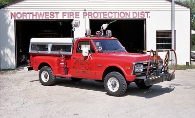 NORTHWEST FPD  RESCUE 1204  1972  GMC 4X4 - FD BUILT   250-200