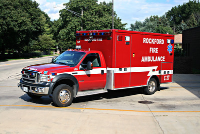ROCKFORD FD  AMBULANCE 1-C-27  X-BYRON FPD