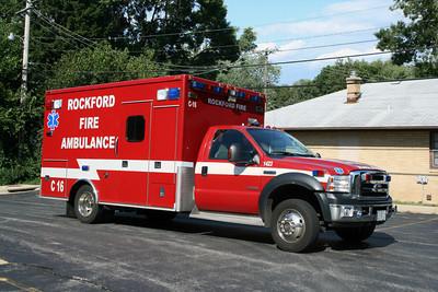 ROCKFORD FD  AMBULANCE 1-C-16  X-BYRON FPD