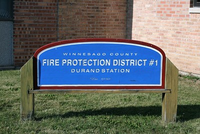 DURAND FPD  STATION SIGN