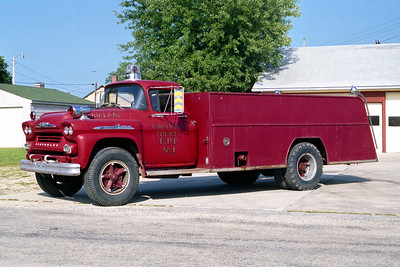 ‌WINNEBAGO COUNTY FPD  TANKER 1671  1958  CHEVY - ALEXIS   0-1000