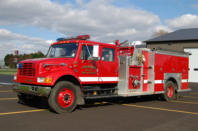 CONGERVILLE FPD  ENGINE 302  IHC 4900- B FRICKER PHOTO