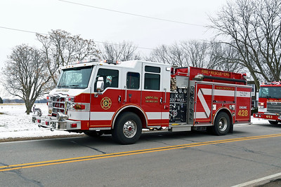 SPRING BAY FPD  ENGINE 428  PIERCE VELOCITY   DUNLAP FPD  TOWER 227  PIERCE DASH   100' PAP   TODD HEALEY PHOTO