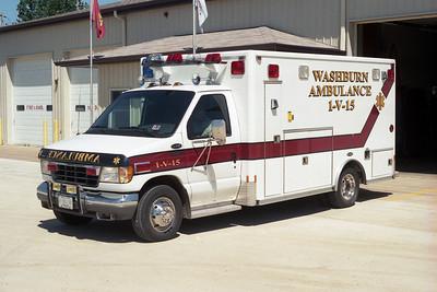 WASHBURN AMBULANCE 1-V-15  FORD E-350 - E-ONE