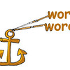 Hypertext - One or two words as 'anchor'
