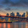 The Brooklyn Bridge at Dusk 4088 w51