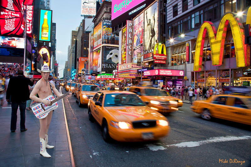 The Naked Cowboy in Times Square - w16