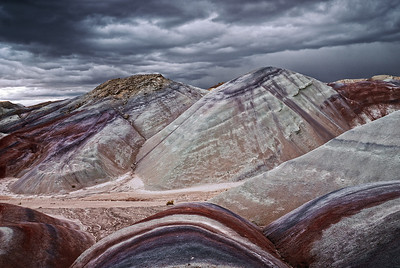 """PAINTER GONE MAD""  (Bentonite Hills, Capitol Reef NP)"