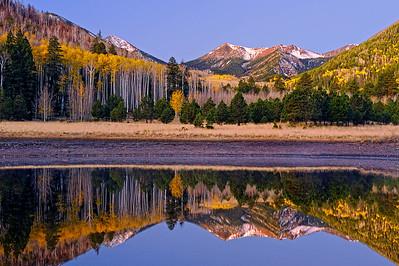 """REFLECTING ON FALL (Lockett Meadow, AZ)"