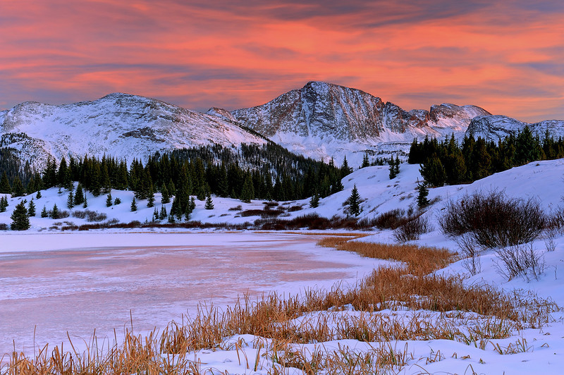 """WINTER'S APPROACH"" - (Little Molas Lake, CO)"