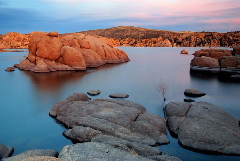 """""""DELLS SUNSET"""" (Watson Lake, Prescott, AZ)"""