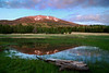 """BISMARCK LAKE SUNSET"" (San Francisco Peaks, AZ) - This would only be called a lake in the Southwest, it's really not much more than a puddle, but it's still a beautiful area."