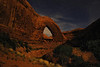 """WINDOW TO THE STARS"" (Grand Staircase, UT) - Broken Bow Arch under the light of the moon."
