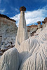 """WAHWEAP HOODOO"" (Grand Staircase, UT) - The elegant white hoodoos of Wahweap Creek."