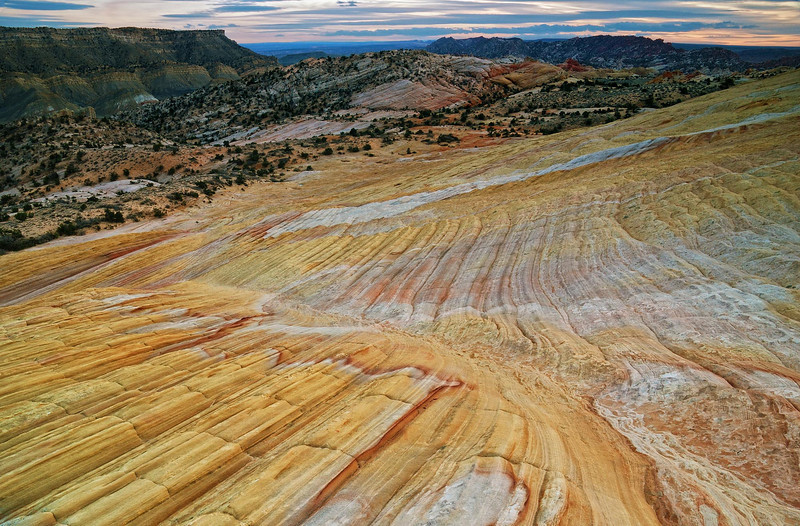 """SANDSTONE RAINBOW"" (Grand Staircase, UT) - The incredible colors and textures of Yellow Rock, in Southern Utah."