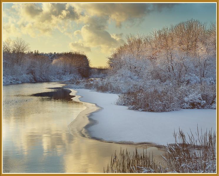 Peaceful Winter River