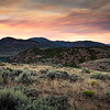 TWILIGHT  OVER  SAGE BRUSH  COUNTRY