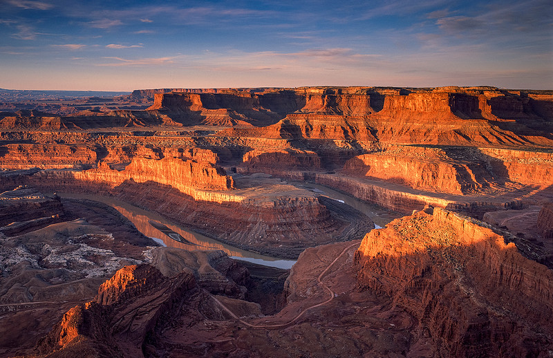 DAYBREAK VIEW from DEADHORSE POINT
