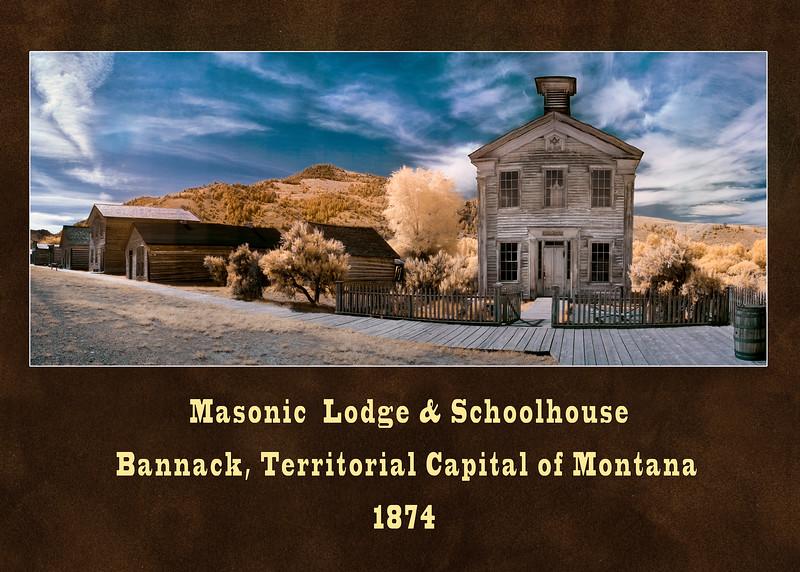 #38 Bannack Masonic Lodge Panoramic Infrared