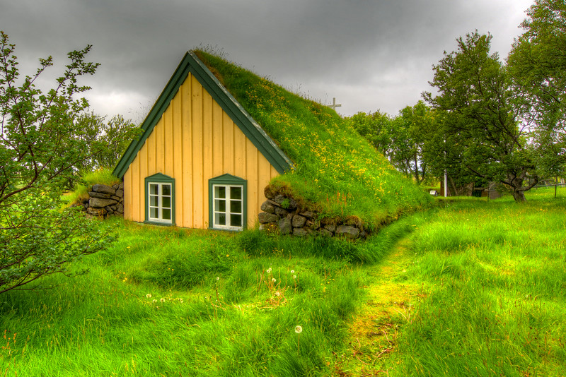 Hofskirkja Church, Oraefi, East Iceland, 1883