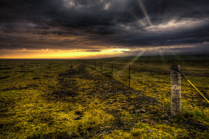 Fence, South Iceland
